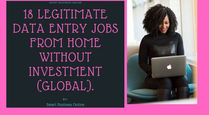 18 Legitimate Data Entry Jobs From Home Without Investment (GLOBAL).